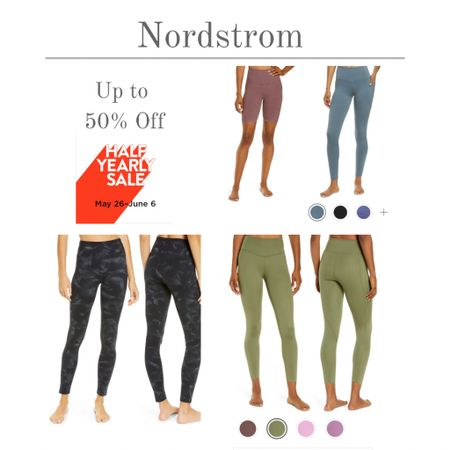 Leggings, bike shorts, sports bras, and more are on sale during the Nordstrom Half Yearly Sale. Styles for yoga, running, barre, or CrossFit. Workout gear up to 50 percent off!  #kimbentley #exercise  #LTKsalealert #LTKunder50 #LTKfit