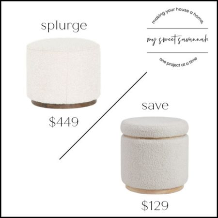 Loving these soft Sherpa pouf/ottomans! Splurge or save?