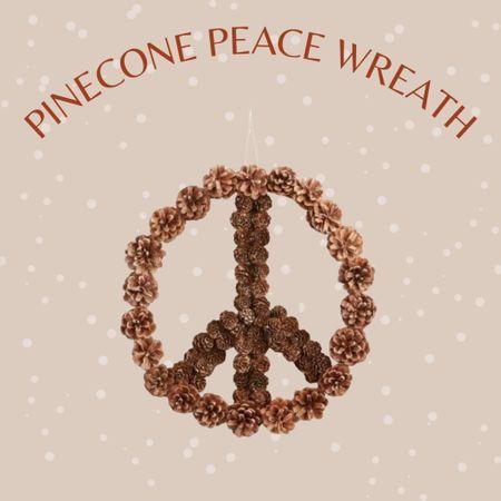 Boho woodland pinecones peach Christmas wreath   #LTKstyletip #LTKhome #LTKunder50