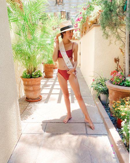Bridal spa day beach outfit shein swimwear cheeky bikini http://liketk.it/3k6eo #liketkit @liketoknow.it #LTKswim #LTKwedding