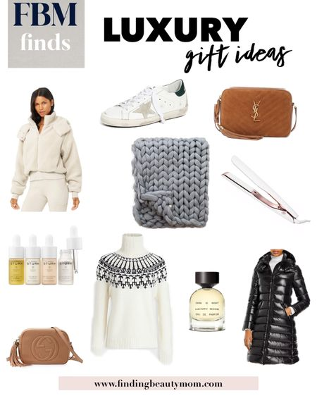 Luxe gifts, lux gifts, fancy gifts, splurge gifts, parfume, gifts for her mom gift guide, casual style, winter puffer coat, finding beauty mom, wishlist, gifts she wants, luxury gift guide   #LTKgiftspo #LTKstyletip
