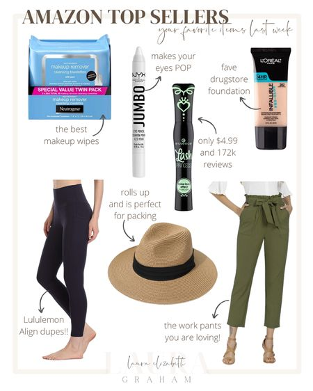 Amazon top sellers from last week! These are my go to beauty products and these leggings are the perfect Lululemon align look-a-like and of course my favorite work pants!   #LTKstyletip #LTKbeauty #LTKfit