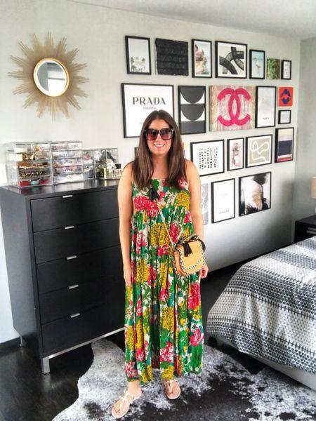 Green floral print dress $20❤️  #LTKunder50 #LTKstyletip