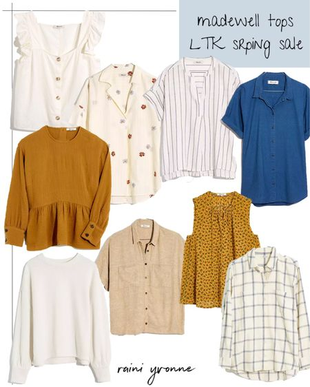 Madewell Tops LTK Spring Sale 25% off $125+  http://liketk.it/3cqaC @liketoknow.it #liketkit   #LTKSpringSale #LTKsalealert #LTKunder100  Madewell, Spring Outfit, Summer Outfit, Flannel, Sale, Plus Size, Vacation Outfit, Business Casual