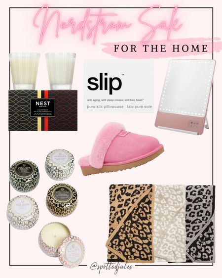 Nordstrom Sale finds for the home Nsale home goods Nest candles voluspa candles ugg slippers barefoot dreams blanket riki lighted vanity mirror slip pillowcases   #LTKhome #LTKsalealert #LTKunder100 #liketkit @liketoknow.it http://liketk.it/3jV5t