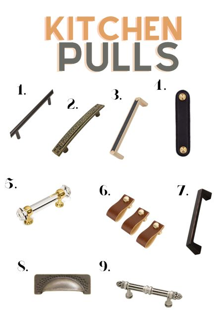 Pulls and handles for the kitchen   Boho farmhouse inspired     #LTKhome #LTKfamily #LTKstyletip