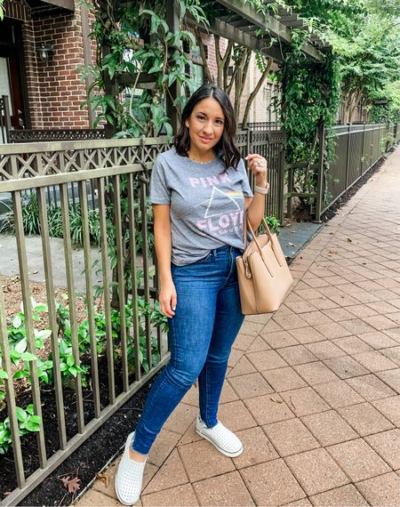 Hello! Pink Floyd t-shirt, Good American jeans, and Native Water shoes. Love this white pair. If they get scuffed you can wash them and they and they are all white again    #LTKunder100 #LTKunder50 #LTKstyletip