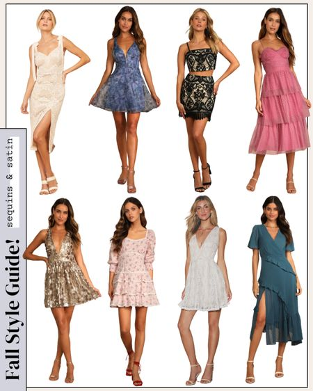 Loving all these lulus dress options for any fall events! All super affordable & most come in more colors too🙌 #lulus #dresses #cutedresses #homecomingdresses #weddingguestdresses   #LTKwedding #LTKunder100 #LTKSeasonal