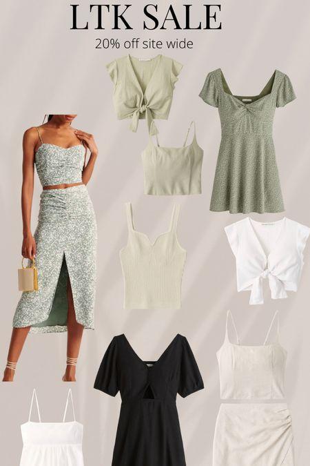 Sage green spring outfits  Sale  Abercrombie  Vacation  Skirt   #LTKstyletip #LTKsalealert #LTKunder100
