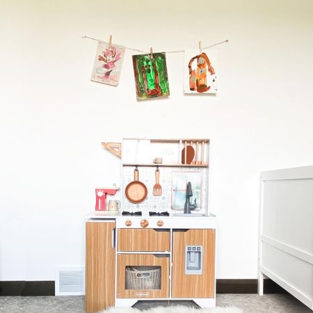 Kitchen for play, and for toy storage. Work with what you've got! 🙌🏻   Follow me on the LIKEtoKNOW.it shopping app to get the product details for this look and others @liketoknow.it @liketoknow.it.family #liketkit #LTKkids #LTKfamily #LTKhome http://liketk.it/2YKMv