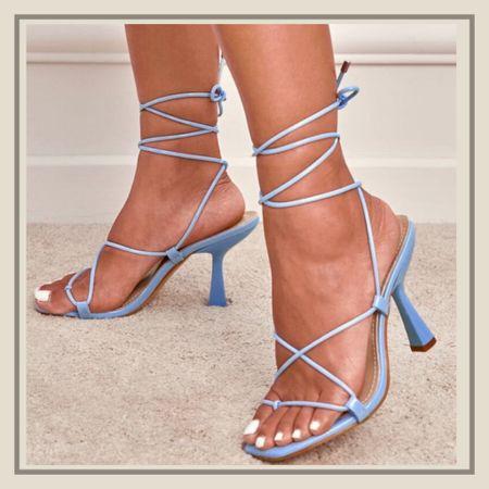 Minimalist tie leg thong heeled sandals   #LTKunder50 #LTKshoecrush #LTKstyletip