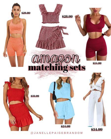Amazon Matching Sets  Affordable  Amazon   #LTKunder100 #LTKstyletip #LTKunder50