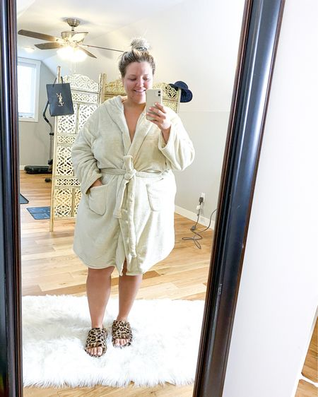 Greasy hair, comfy robe + fuzzy slippers. This is my go to look EVERY MORNING. 😂 Nothing like sipping coffee in a comfy look. Need to wash this hair. 😬   http://liketk.it/32QBC #liketkit #LTKcurves @liketoknow.it   You can instantly shop all of my looks by following me on the LIKEtoKNOW.it shopping app