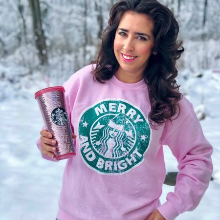 Merry & Bright Starbucks inspired. #LTKgiftspo #LTKunder50 #LTKstyletip http://liketk.it/34iai #liketkit @liketoknow.it #ltkholiday #ltkwinter