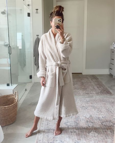This robe is a barefoot dreams dupe and it's my FAVORITE! And it washes great! Code Jen20 for 20% OFF.     #LTKhome