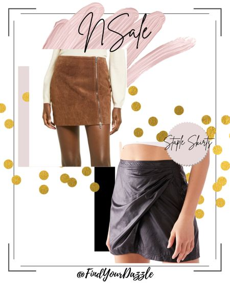 Nordstrom anniversary sale! Cute faux leather skirt and suede mini skirt!    #LTKSeasonal #LTKunder100 #LTKunder50