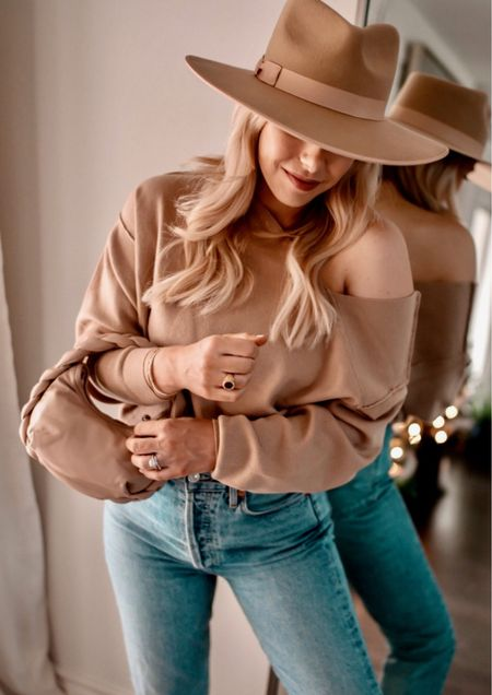 Sylvie Sweater, Fall Sweater, Fall Outfit Idea.  The tan color is sold out but it's still available in Ivory and I've linked a VERY similar tan alternative.  #LTKunder100 #LTKSeasonal #LTKstyletip