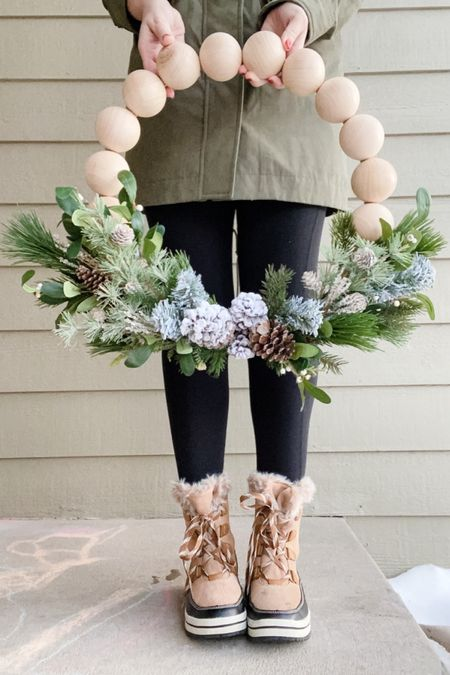 Had fun making a winter version of the split ball wreath for a friend of mine! 🤗❄️ All supplies are linked! http://liketk.it/348a3 @liketoknow.it #liketkit #LTKgiftspo #LTKhome #LTKstyletip @liketoknow.it.home @liketoknow.it.family @liketoknow.it.europe