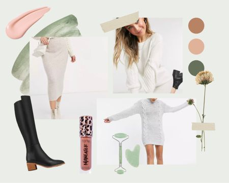 Pretty knit jumper dresses, love the knitted skirt, gorg ankle boots! And some Sephora finds, lip gloss and jade face roller    http://liketk.it/3hULE #liketkit @liketoknow.it #LTKbeauty #LTKstyletip #LTKshoecrush Download the LIKEtoKNOW.it shopping app to shop this pic via screenshot
