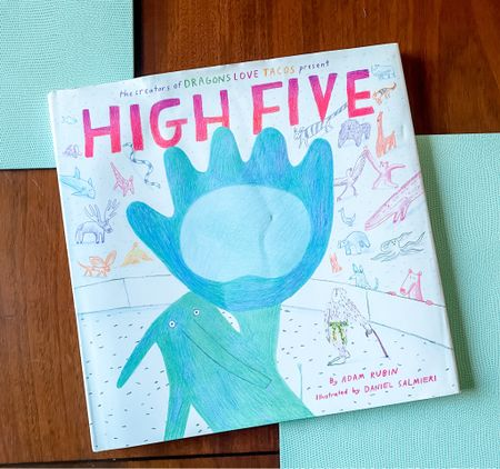 Hone your high-giving skills with this hilarious children's book, which is just as much fun for parents to read it kids! (However, be cautioned does encourage the pages, you can see from wrinkled cover, so may hype kids up a bit bedtime!) This book makes an excellent gift!! 📖 