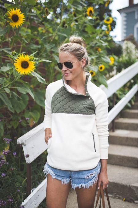 Asymmetrical snap up fleece hoodie // size small + 16 colors // take 25% off with code LTKAF2021  #LTKSeasonal #LTKunder100 #LTKSale
