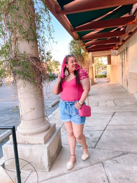 It's a hot pink summer! 💖☀️ Since it's the last day of August, I wanted to share the last of my looks from the summer. I lived in hot pink as i I should and this was my go to outfit. 😍 These denim shorts were on repeat and this top was an Amazon find which I wore to death as well. ✨ On the blog, www.fashionxfairytale.com I gave all the details to this look and talked about my favorite wardrobe clothing staples during the season. 💻 What was your favorite summer wardrobe staple? 🤔   #LTKcurves