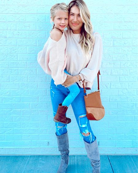 Perfect blush top and Grey high boots http://liketk.it/2YMp3 #liketkit @liketoknow.it