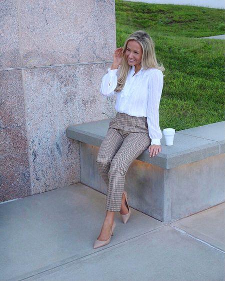 Work outfit plaid pants work style   #LTKworkwear #LTKunder100 #LTKsalealert
