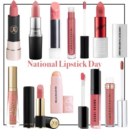 Celebrate National Lipstick Day with a sale on some GREAT lipsticks at @nordstrom! Check out my blog post for all the details, but discounts range from 20-50% off! Don't sit on this-sale is today only!! #nationallipstickday #beautyover40 #lipstick #beautydeals #bobbibrown #maccosmetics #kjaerweis #uomabeauty #lancome #buxom #abh #toofaced #liquidlipstick   #LTKunder50 #LTKbeauty #LTKsalealert