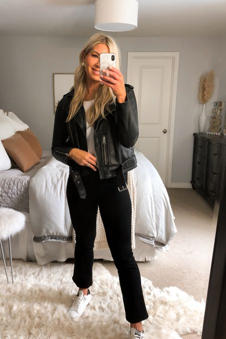 These Mother jeans have the cutest crop and fit. Sucks you in in all the right places. Tts black denim   #LTKstyletip #LTKshoecrush