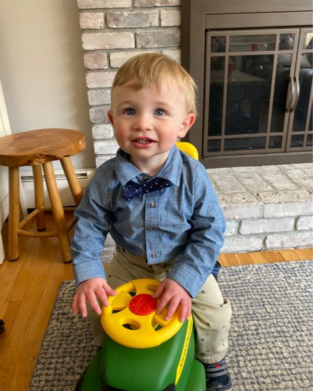 All dressed up with nowhere to to! Target has the best baby boy dress up outfits and he loves his new John deer ride on tractor he got for his birthday! http://liketk.it/3cf7Y #liketkit @liketoknow.it #LTKbaby #LTKfamily #LTKkids @liketoknow.it.family @liketoknow.it.home