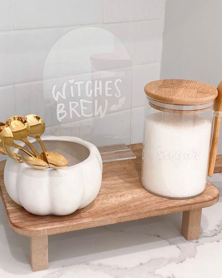 Coffee corner is coming along!! 🤍  Amazon, kitchen, Target   #LTKunder100 #LTKunder50 #LTKhome