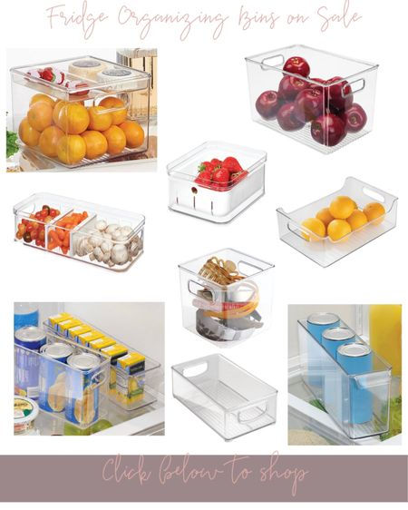 Fridge organizing bins 👏🏻 on sale today for a super low price! All under $15, these bins are normally above $25. All of my favorites are rounded up below. http://liketk.it/3hChV #liketkit @liketoknow.it #LTKsalealert #LTKhome