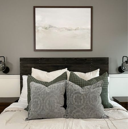 All about how to arrange throw pillows on the bed today on the blog myhomierhome.com/how-to-arrange-throw-pillows-on-a-bed    #LTKhome