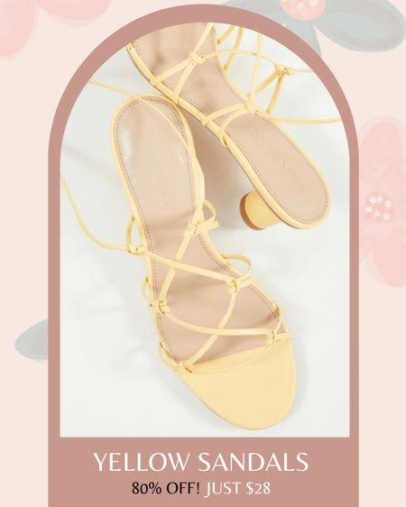 Yellow sandals on sale! 80% off these stylish lace-up sandals ✨ http://liketk.it/3dgGc #liketkit @liketoknow.it #LTKsalealert #LTKunder50 #LTKshoecrush