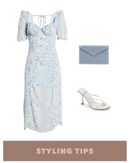 A midi dress paired with heeled sandals and a clutch bag makes a great wedding guest outfit. http://liketk.it/3hD1g #liketkit @liketoknow.it l #LTKcurves #LTKsalealert #LTKstyletip #LTKtravel #LTKunder50 #LTKshoecrush #LTKitbag #LTKunder100 # #LTKSeasonal  Wedding guest dresses   Nordstrom   summer fashion   cocktail dress   date night outfit   summer dress   dresses cocktail   midi dress   sandals   sandals on sale   sandals heel   bags on sale   strappy sandals   strappy heel   lace up heels   heels sandals   heels strappy     bags on sale   bags under 50  