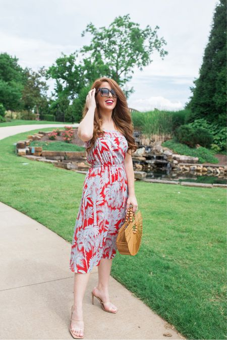 The perfect summer print does exist! I am loving this palm print midi dress from @talbots   #LTKunder100