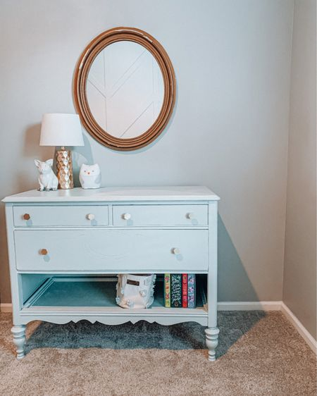 Real life room update. 🤦🏻♀️ Only took me two weeks to finish sisters dresser and get the knobs on it. More details on the rest of the plans for her big girl space are in stories. ✌🏽  Shop the details of this corner on the @liketoknow.it app.  http://liketk.it/2Wuxu    #liketkit #StayHomeWithLTK #LTKhome