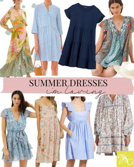 Summer dresses I'm loving // wrap dress, tshirt dress, floral dress, wedding guest dresses   #LTKunder100 #LTKstyletip #LTKwedding