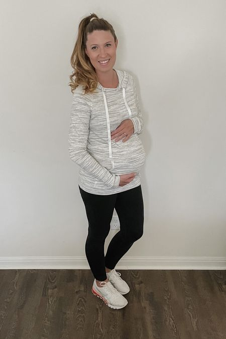 Athleisure is life with a baby bump, am I right? Perfect for running errands or hanging out at home. Comfy and cute!   #StayHomeWithLTK #LTKunder100 #LTKbump