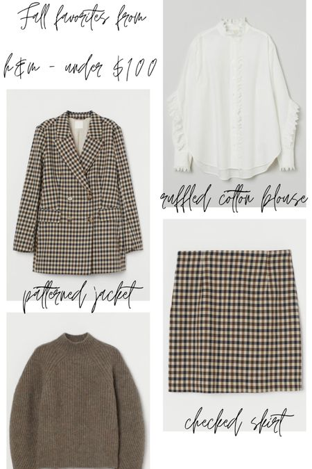 Rounding up my Fall Favorites from H&M - all of these pieces are under $100 and going fast! Shop my daily looks by following me on the LIKEtoKNOW.it shopping app http://liketk.it/2Xhq1  @liketoknow.it #LTKunder100 #LTKunder50 #LTKstyletip #liketkit