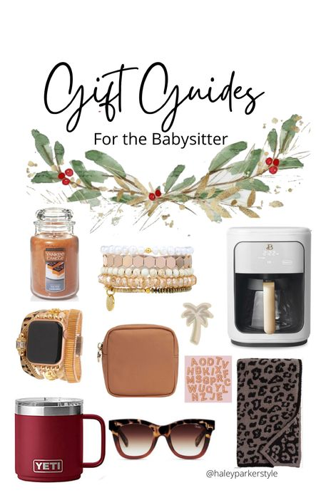 Gift guides Gifts for the babysitter Babysitter gift Nanny gift Coffee pot Apple Watch babe Yankee candle Victoria Emerson bracelet Stoney clover custom makeup toilette bag Barefoot dreams blanket Beautiful by drew barrymore  #LTKHoliday #LTKunder100 #LTKGiftGuide