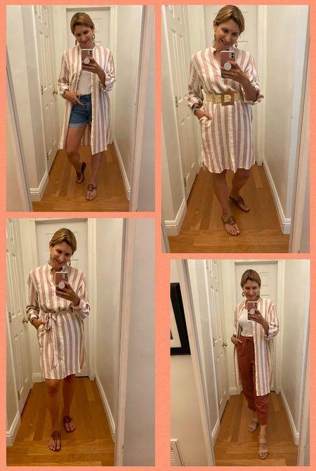 4 ways to wear this shirt dress.    #LTKstyletip #LTKunder100 #LTKunder50