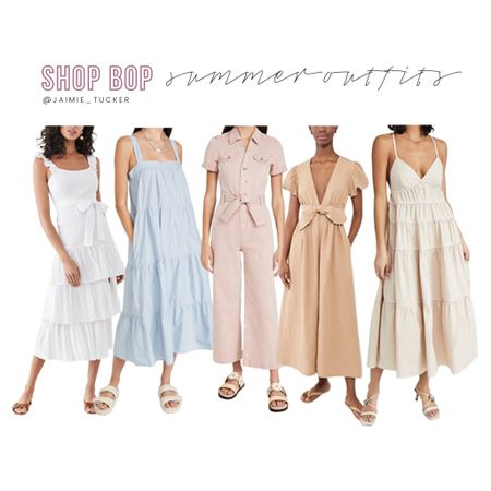 Check out these gorgeous summer dresses and outfits from Shop Bop! | #vacationoutfits #summerdresses #summeroutfits #beachvacationoutfits #dressoutfits #summerromper #summerjumpsuit #beachvacationdresses #JaimieTucker  #LTKtravel #LTKstyletip #LTKSeasonal