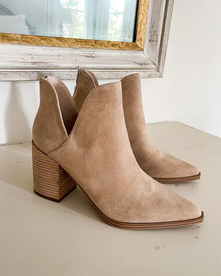 These booties are sold out in tan suede (pictured) and grey suede but are still available in snakeskin, which would look gorgeous with an all-black or all-neutral look. 👢TTS  I linked a similar pair of cutout booties that are also on sale & my all-time favorite fall ankle booties (the Marc Fisher Alva)—I have them in 2 colors!  #nsalebooties #nsaleshoes #nsalepublicaccess #fallbooties #booties booties, nsale booties, Nordstrom Sale booties, Nordstrom Anniversary sale booties, Nordstrom Sale shoes, Nordstrom Anniversary Sale shoes, nsale shoes