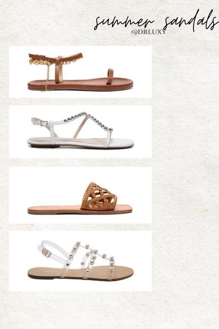 Summer sandals  Studded sandals  Flat sandals  Neutral sandals Vacation outfit Summer outfit     #LTKstyletip #LTKshoecrush #LTKtravel