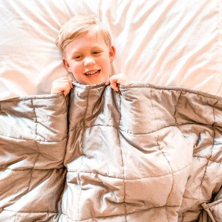 We love our weighted blanket! The whole family tries to snuggle under it while watching a movie or snuggling in bed! It's a fav for sure! #LTK #liketoknowit   #LTKhome