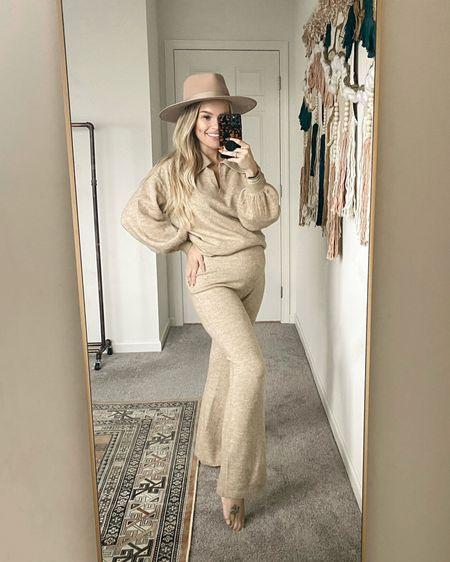Maternity lounge sweater set from asos   #LTKbump #LTKunder50 #LTKunder100