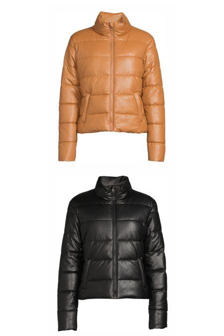 Faux leather jacket from Walmart   #LTKSeasonal #LTKstyletip #LTKunder50