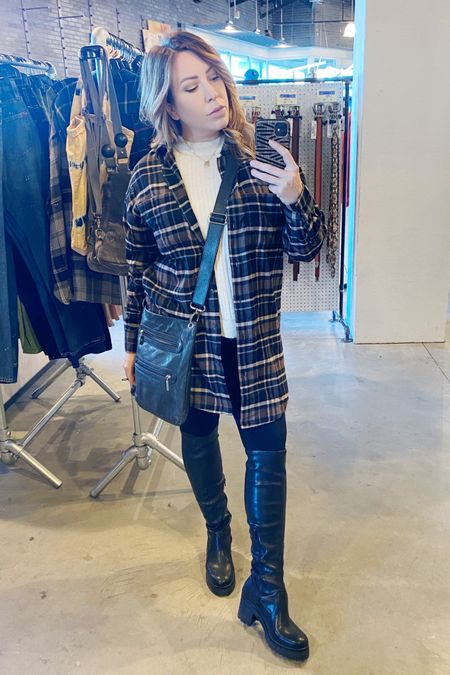 Love this oversized flannel. The material is super soft and is a great length, either by itself buttoned or as an over-shirt. Pair with tall boots for a grown-up grunge look. #liketkit @liketoknow.it http://liketk.it/35BYq